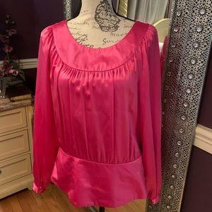 INC Silk Blouse pink